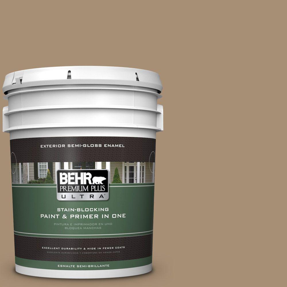 BEHR Premium Plus Ultra 5-gal. #N300-5 Hidden Treasure Semi-Gloss Enamel Exterior Paint