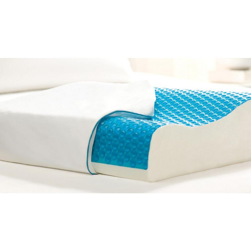 Hydraluxe Premium Molded Foam Bed Pillow Standard White Comfort Revolution cooling gel memory foam standard pillow
