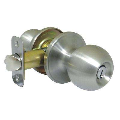 Ball Stainless Steel Door Knob Keyed Entry