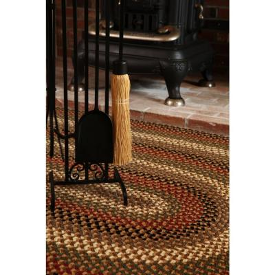 Country Medley Sangria 8 ft. x 11 ft. Oval Indoor/Outdoor Braided Area Rug