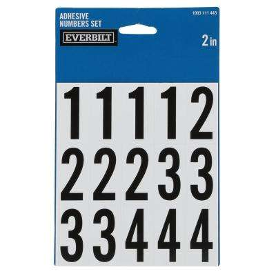 2 in. Self-Adhesive Vinyl Number Pack