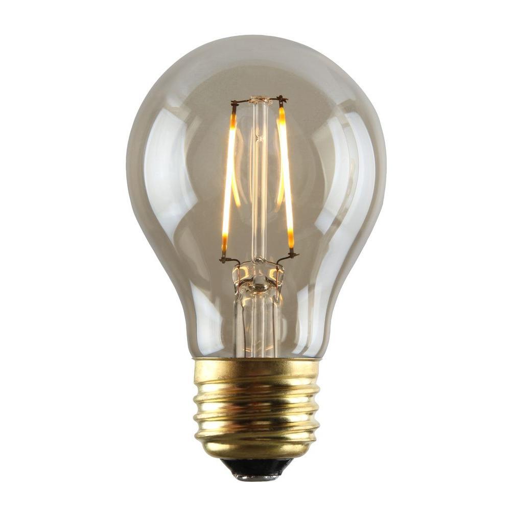 2W Equivalent 2,200K A19 Dimmable LED Filament LED Light Bulb