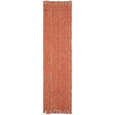 Natural Fiber Rust 3 ft. x 10 ft. Runner Rug
