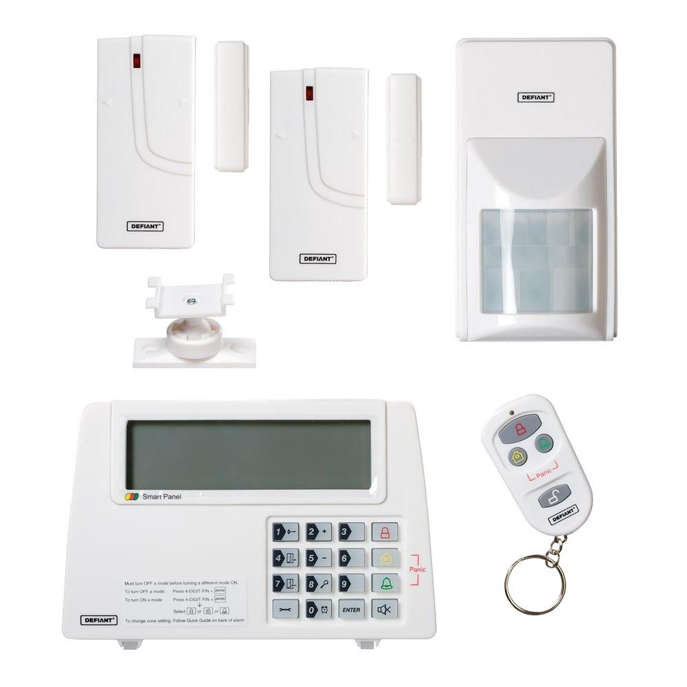 Defiant Home Security Wireless Home Protection System-THD-1000 - The Home  Depot