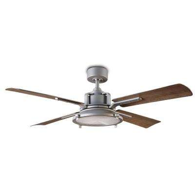 Nautilus 56 in. LED Indoor/Outdoor Graphite 4-Blade Smart Ceiling Fan with 2700K Light Kit and Wall Control