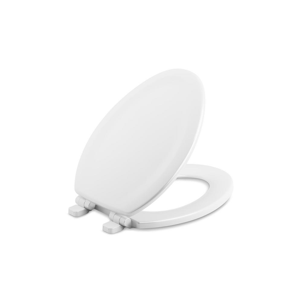 Swell Details About Kohler Elongated Closed Front Toilet Seat Quiet Soft Cover White Wood Hardware Machost Co Dining Chair Design Ideas Machostcouk