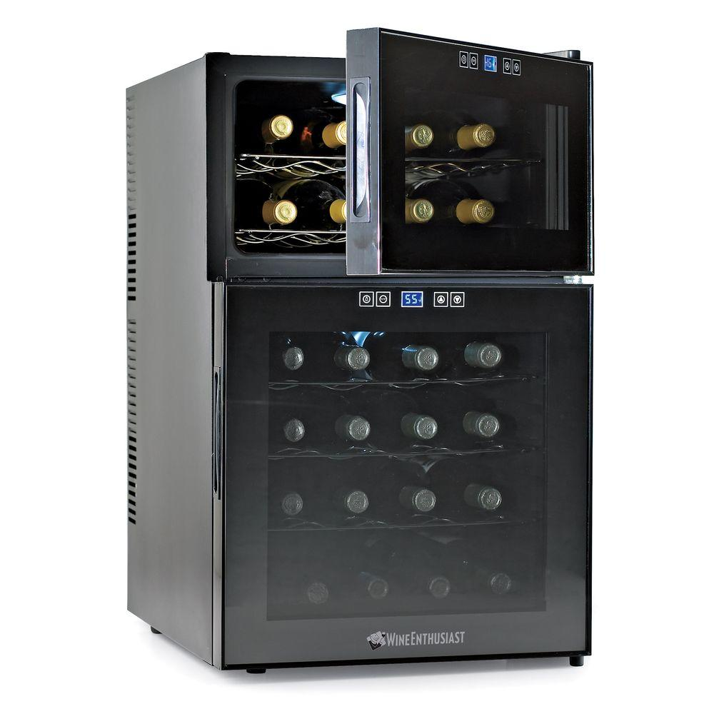 Wine Enthusiast 24-Bottle Dual Zone Touchscreen Wine Cooler-DISCONTINUED