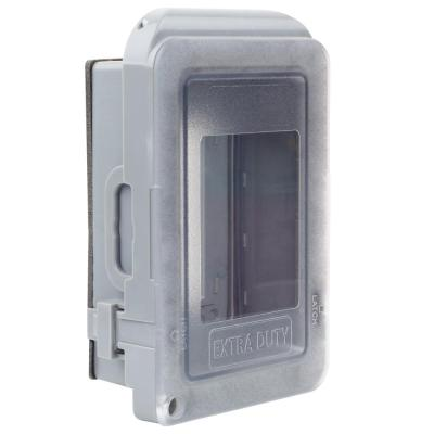 1-Gang Extra Duty Non-Metallic Low Profile While-In-Use Weatherproof Horizontal/Vertical Receptacle Cover, Gray
