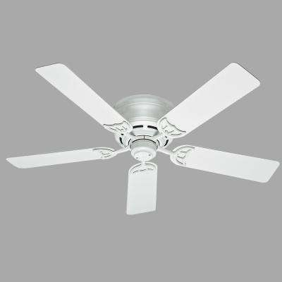 Low Profile III 52 in. Indoor White Ceiling Fan