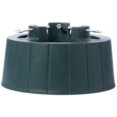 Green Plastic Christmas Tree Stand with Screw Fastener