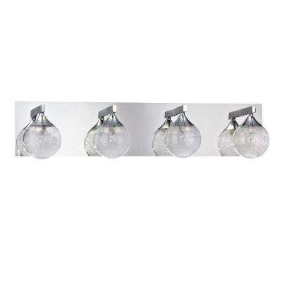 FYBRA Series 4-Light Chrome Bath Light