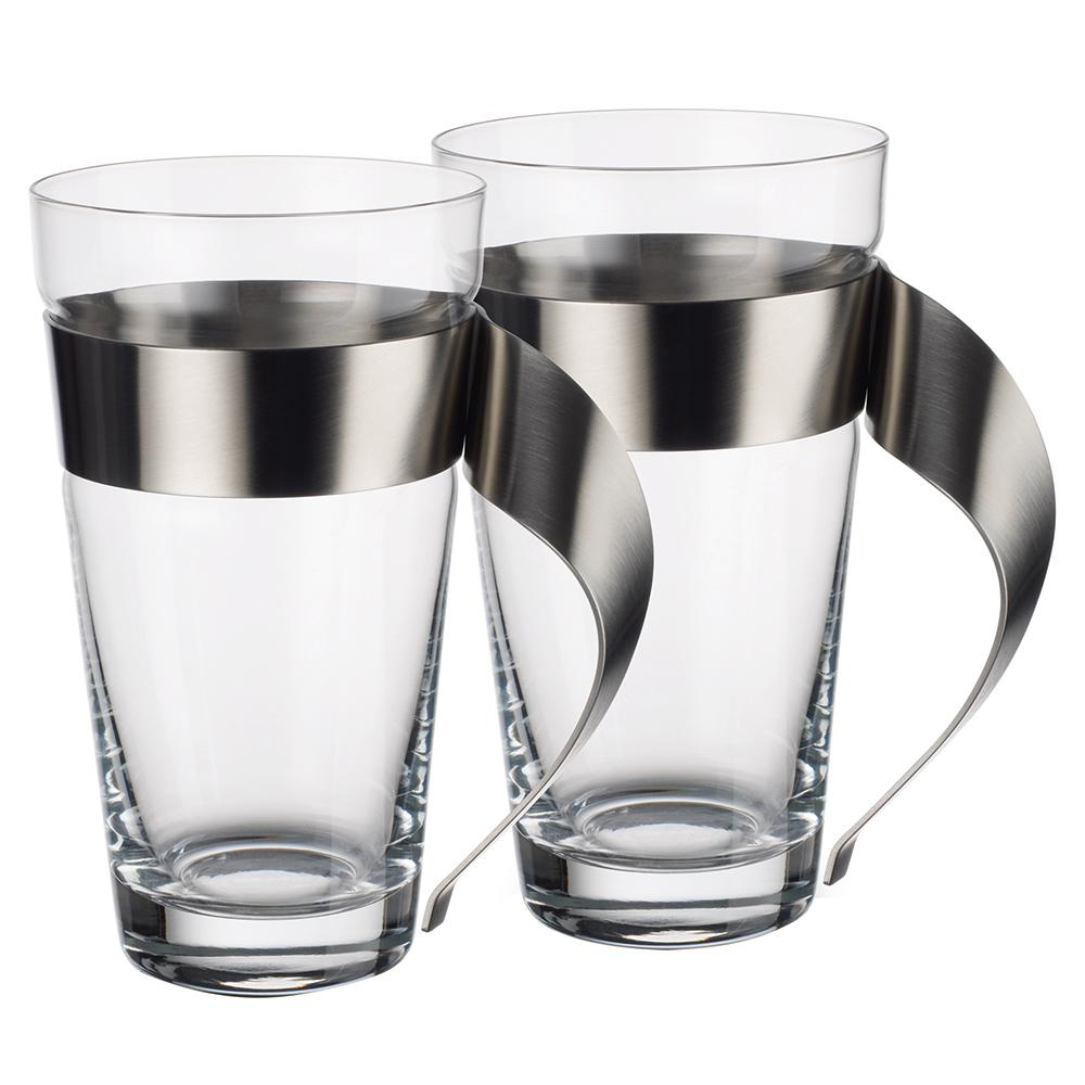 Villeroy & Boch New Wave 16 oz. Clear Glass and Stainless...