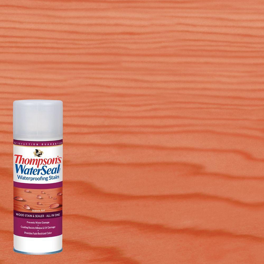 Thompson 39 S Waterseal Oz Sequoia Red Waterproofing Stain Aerosol Spray Exterior Wood 6