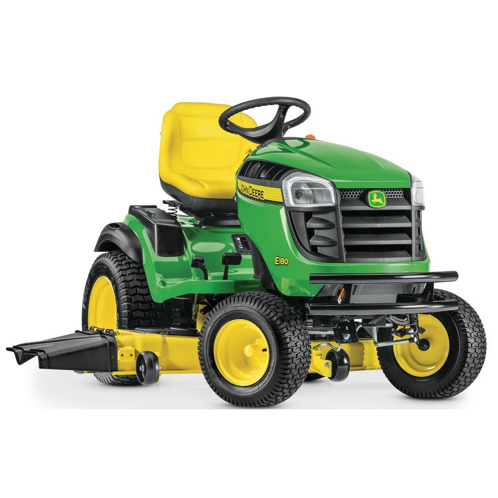 John Deere E180 54 in  25 HP V-Twin ELS Gas Hydrostatic Lawn Tractor