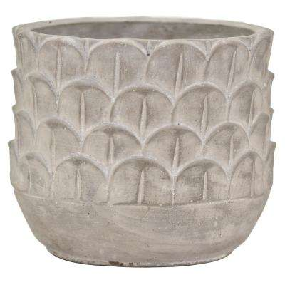 6.5 in. Gray Terracotta Planter