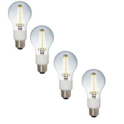 60-Watt Equivalent A19 Dimmable Energy Saving Household LED Light Bulb Daylight (4-Pack)