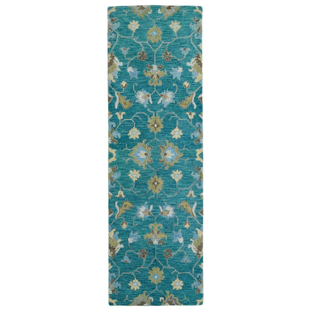 Kaleen Helena Turquoise Area Rug Reviews: Kaleen Helena Turquoise 2 Ft. 6 In. X 8 Ft. Runner-3209-78