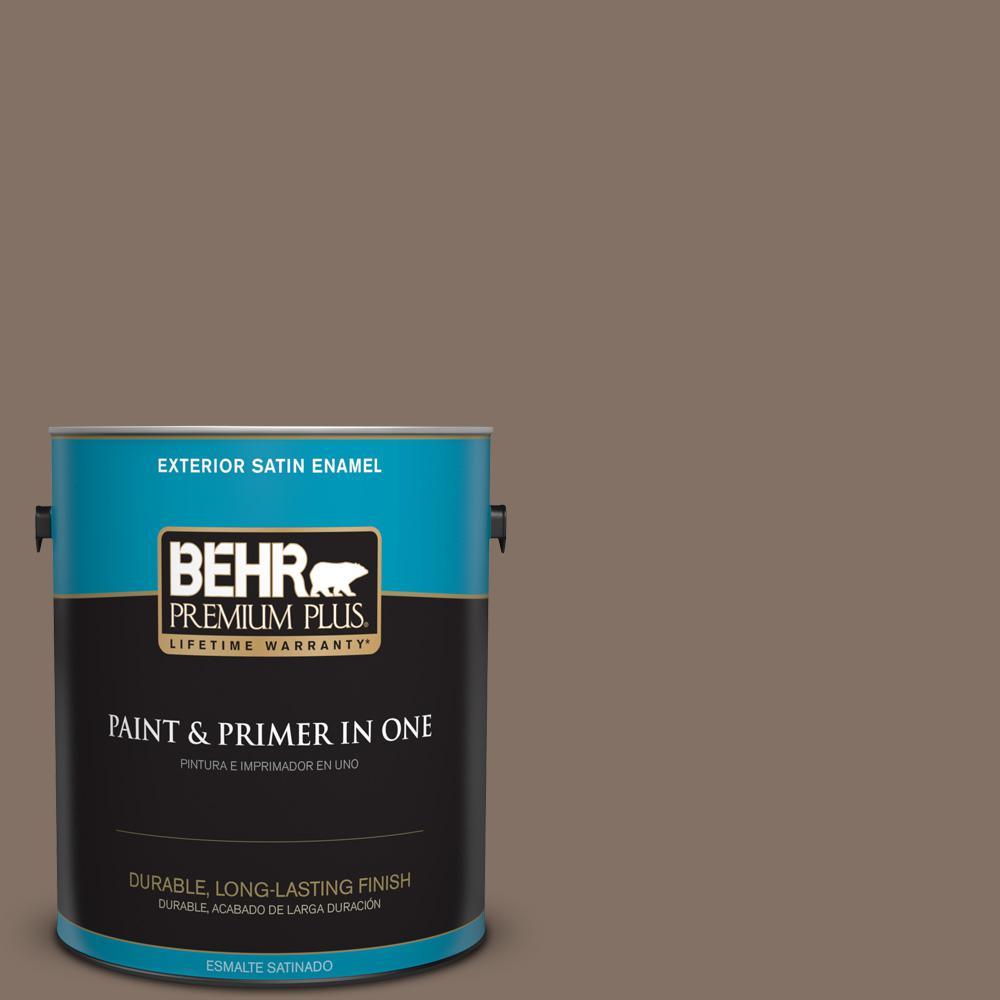 1 gal. #PPU5-17 Cardamom Spice Satin Enamel Exterior Paint