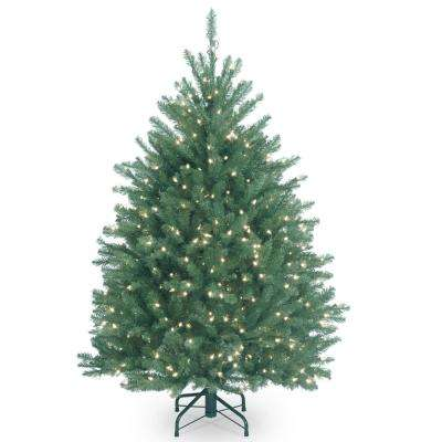4-1/2 ft. Dunhill Blue Fir Hinged Tree with Clear Lights
