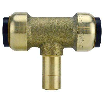 3/4 in. Brass Push-To-Connect x 3/4 in. Brass Push-To-Connect x 3/4 in. CTS Street Outlet Tee