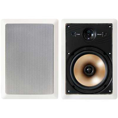175W Acoustech 3-Way 8 in. In-Wall Speakers with Adjustable Tweeter and Pivoting Midrange