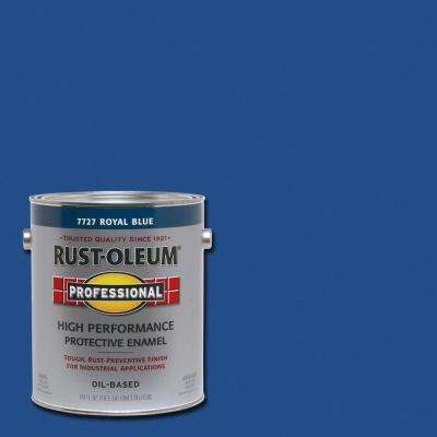 1 gal. High Performance Protective Enamel Gloss Royal Blue Oil-Based Interior/Exterior Industrial Paint (2-Pack)