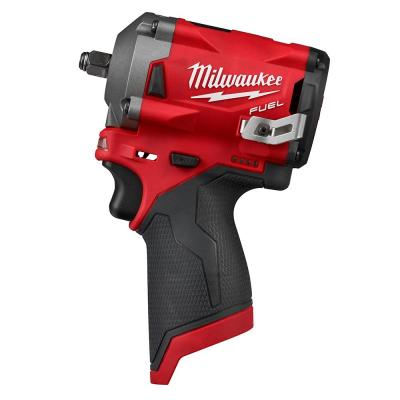 M12 FUEL 12-Volt Lithium-Ion Brushless Cordless Stubby 3/8 in. Impact Wrench (Tool-Only)