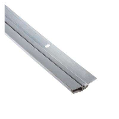 KC500 Wedge 1-1/4 in. x 84 in. Gray Triangular Gasket and Aluminum Screw On Door Weatherstrip Set Contractor Pack of 12