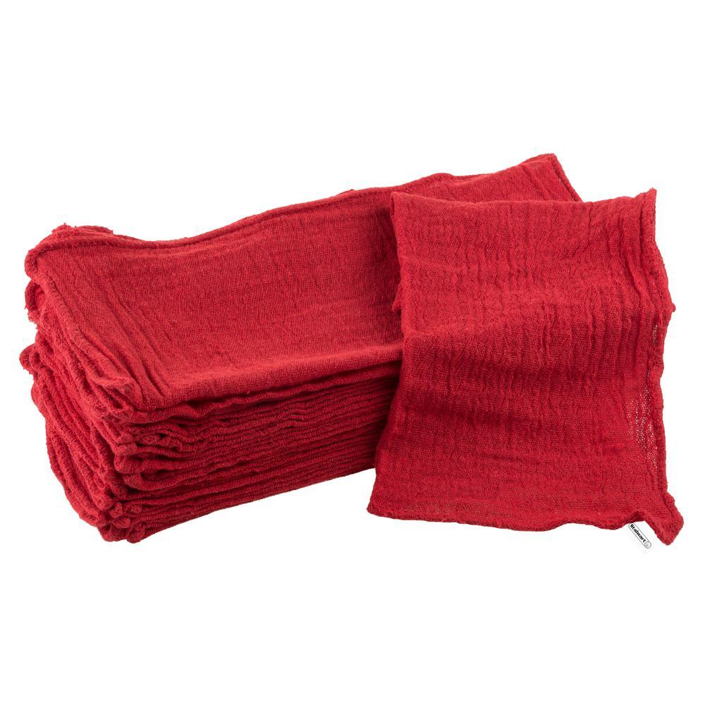 Auto Shop Cotton Rags (25-Pack)
