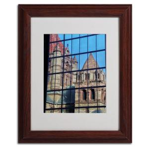 11 inch x 14 inch Trinity Church Reflection Matted Framed Art by