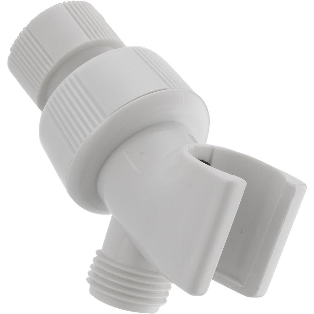 Delta Adjustable Shower Arm Mount For Hand Shower In White U3401 Wh