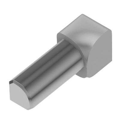 Rondec Classic Grey Color-Coated Aluminum 3/8 in. x 1 in. Metal 90 Degree Inside Corner