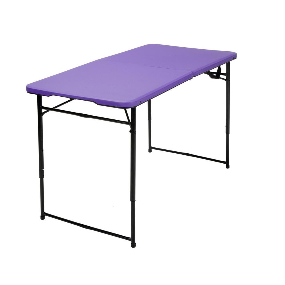 Cosco purple adjustable folding tailgate table 14402pnb1e the cosco purple adjustable folding tailgate table geotapseo Images