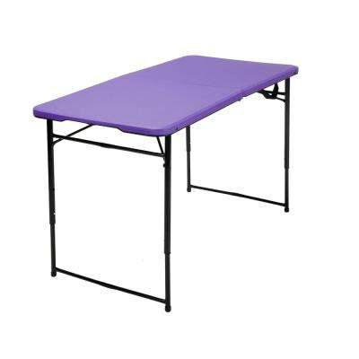 Purple Adjustable Folding Tailgate Table