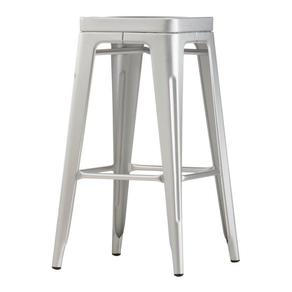 Brushed aluminum bar stool chair seat durable