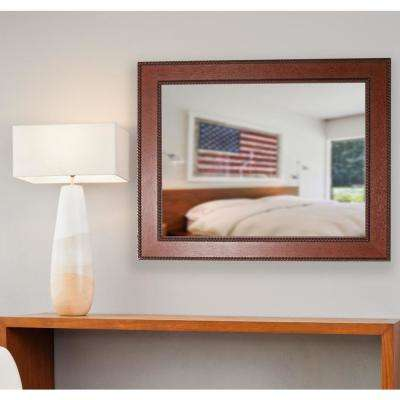 28 in. x 34 in. Ava Rustic Rope Non Beveled Decorative Wall Mirror