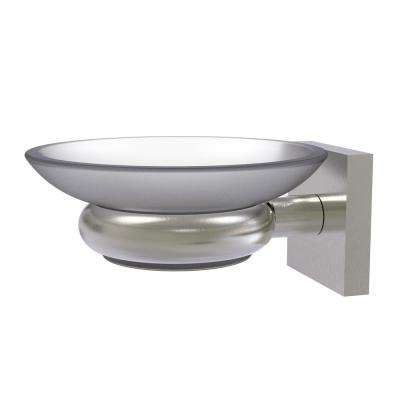 Montero Collection Wall Mounted Soap Dish in Satin Nickel