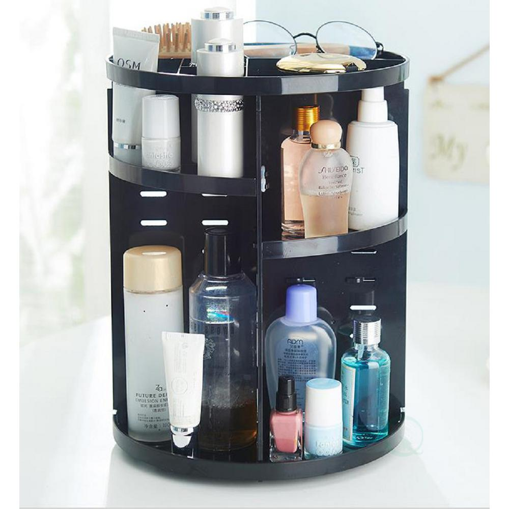 Basicwise 9 In X 12 In Rotating Cosmetic Storage Tower Makeup