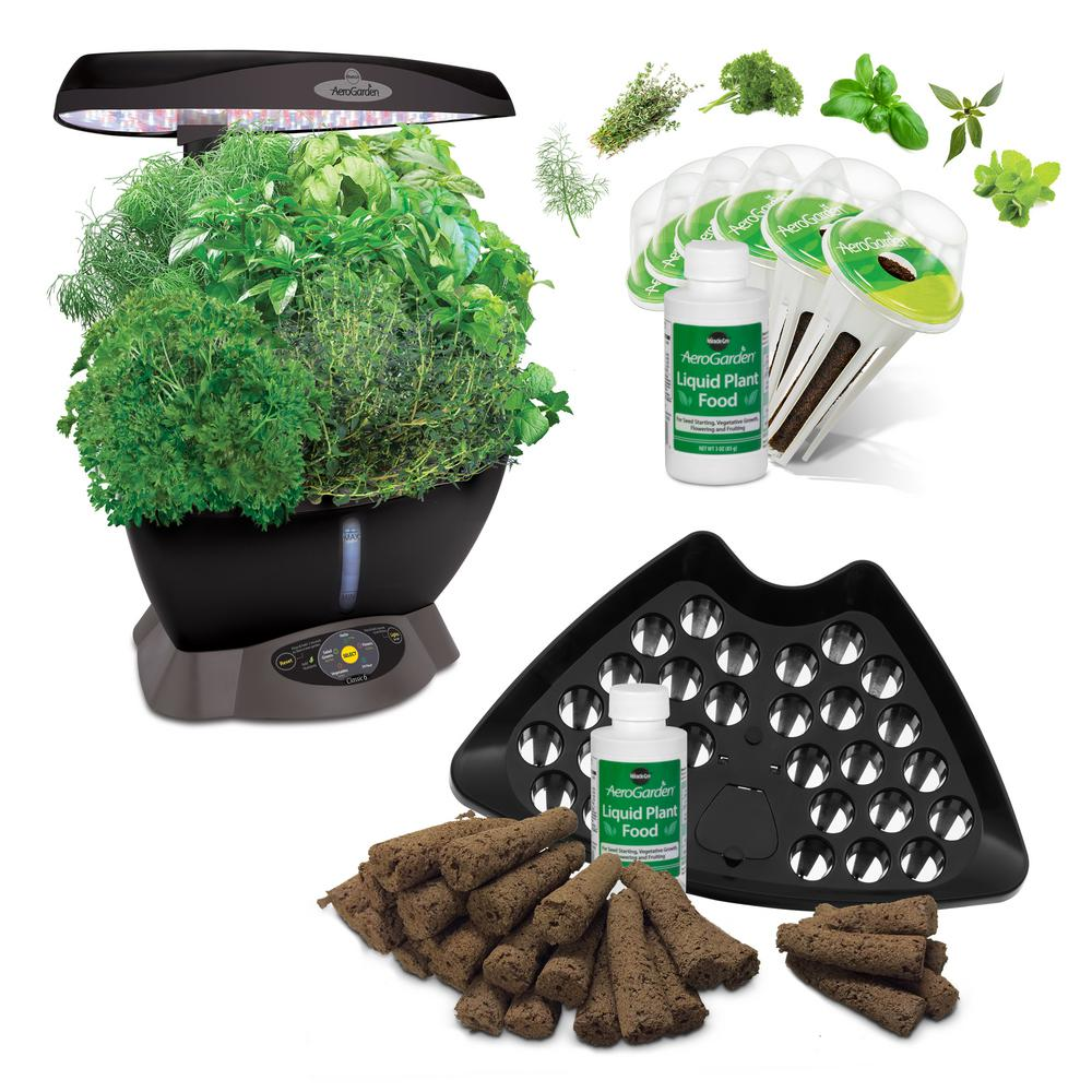 Miracle Gro AeroGarden Classic 6 Smart Garden plus Bonus ...