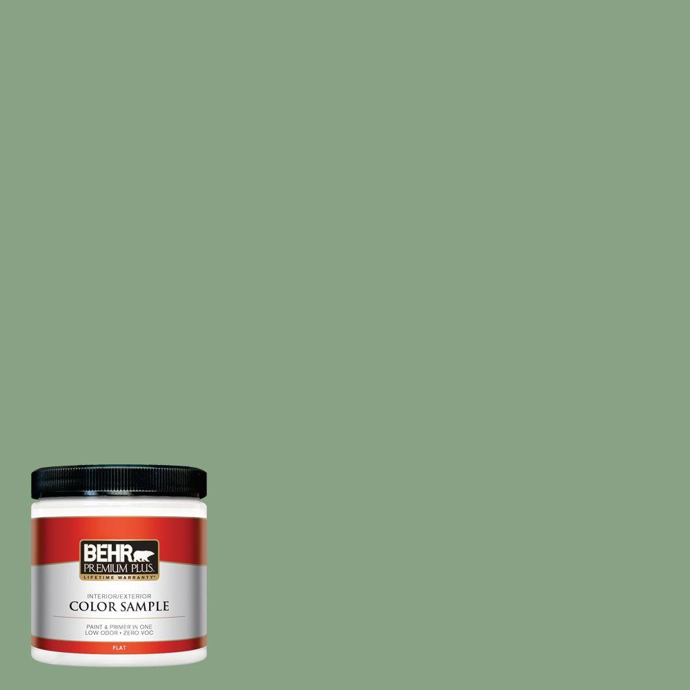 BEHR Premium Plus 8 oz. #S400-5 Gallery Green Interior/Exterior Paint Sample