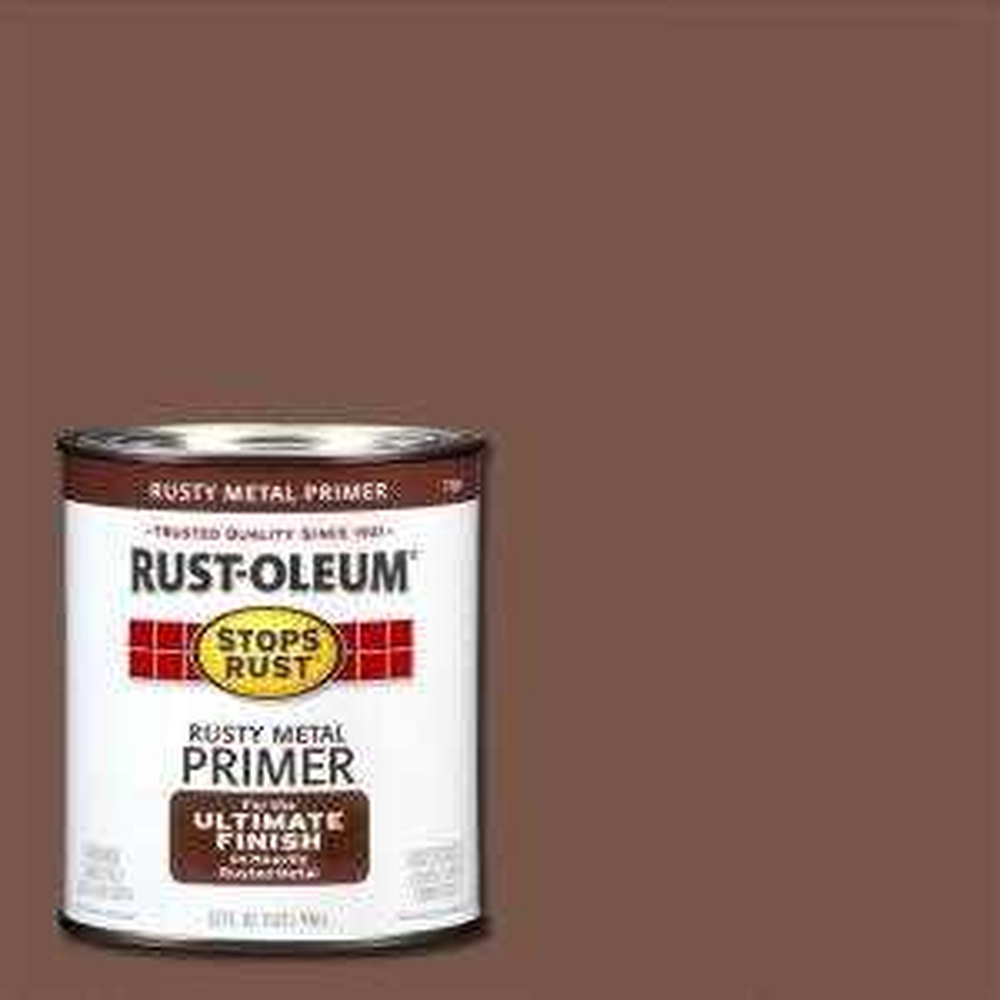 Rust Oleum Stops Rust 1 Qt Flat Rusty Metal Primer
