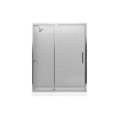 Lattis 3-1/2 in. x 21-1/8 in. x 79 in. One Piece Direct-to-Stud Side Shower Panel in Nickel