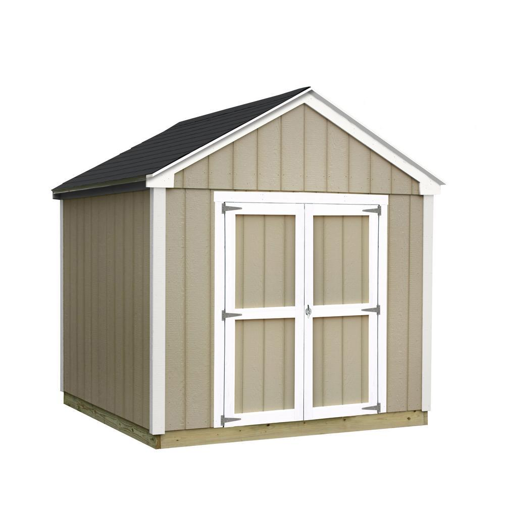 installed val u plus 8 ft x 10 ft smart siding shed