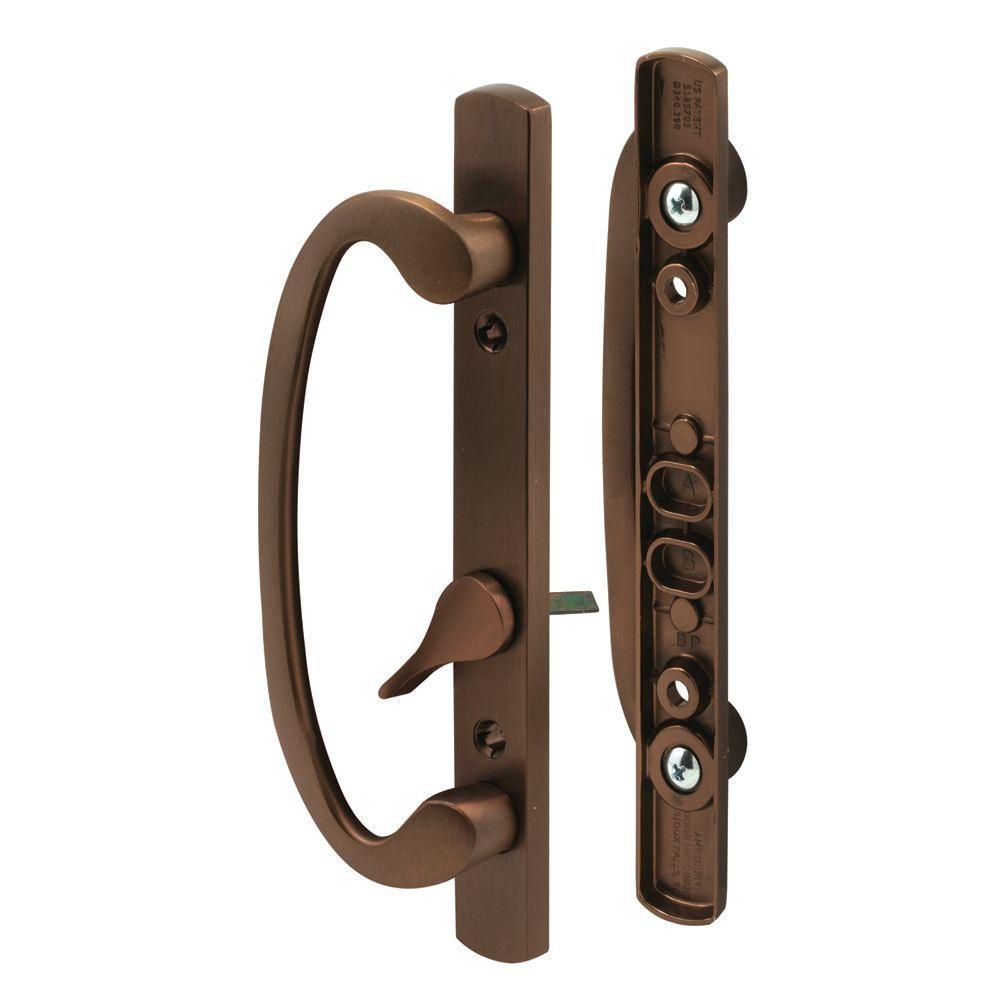 Beau Classic Bronze Sliding Door Handle Set