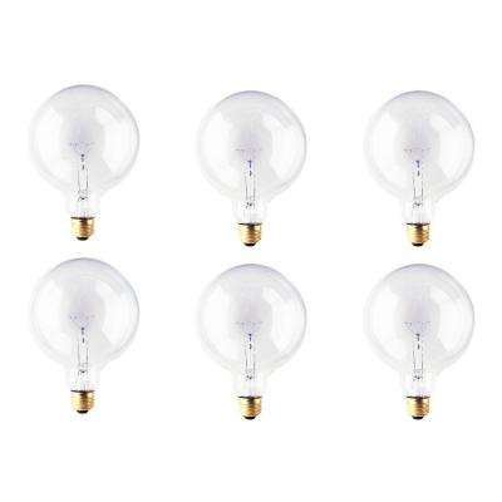 40-Watt G40 Clear Dimmable Warm White Light Incandescent Light Bulb (12-Pack)