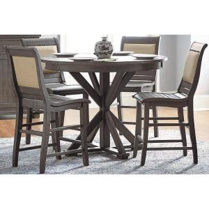 Willow Distressed Dark Gray Round Counter Table