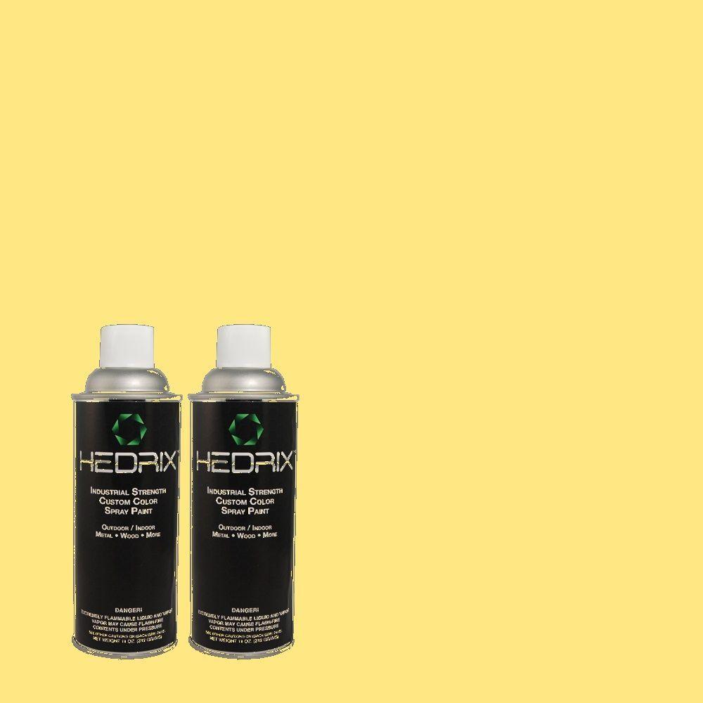 Hedrix 11 oz. Match of 1A2-4 Gold Strike Gloss Custom Spray Paint (2-Pack)