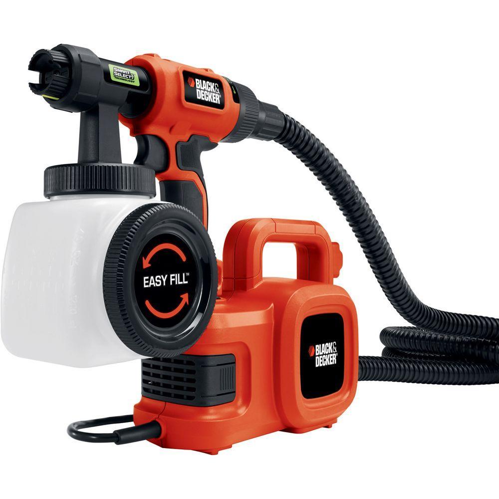BLACK+DECKER SmartSelect High Volume Low Pressure Paint Sprayer with 20 ft. Hose