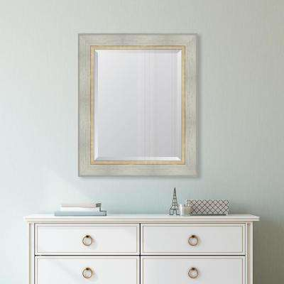 30 in. x 36 in. Framed White Catalina Mirror