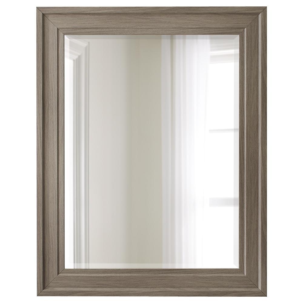 30 in. x 38 in. Grey Wood Tone Mirror